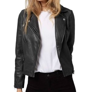 TopShop Real Leather Orbit Moto Jacket